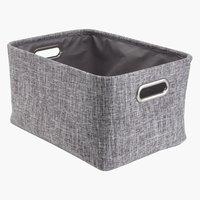 Basket ELIS W26xL36xH20cm grey