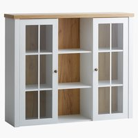 Top section MARKSKEL 2 door white/oak
