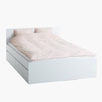 Bed frame LIMFJORDEN Super King white