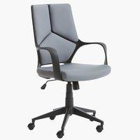 Office chair RAVNING grey/black