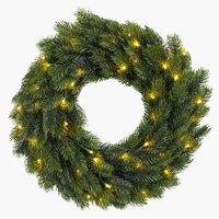 Wreath FENRIS D40cm w/LED and timer