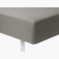 Elastické prostěradlo 180x200x25cm šedá