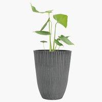 Kvetináč MYGGA Ø29xV36cm plast sivá