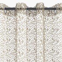 Záclona 1x140x300 pavučina piesková