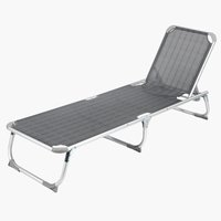 Sunlounger THORSMINDE W58xL195 grey