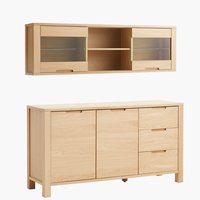 Sideboard + display cabinet SEJS 2 doors