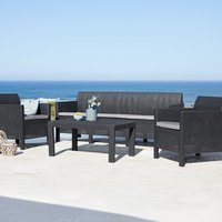 Loungeset MARIELYST 5-sits grå