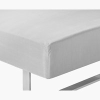 Fitted sheet DBL l.grey KRONBORG