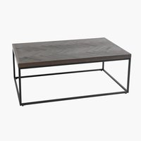 Coffee table HALSKOV 65x100 cm brwn/blk