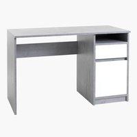 Scrivania BILLUND 54x120 cemento/bianco