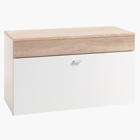 Bench BELLE w/storage white/oak