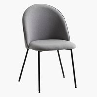 Matbordsstol DYBVAD ljusgrå/svart