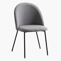 Spisebordsstol DYBVAD lysegrå/sort