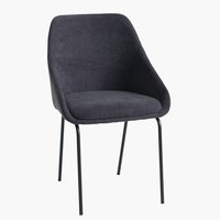 Dining chair NYSTED dark grey/black