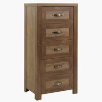 5 drawer chest JUNGEN wild oak