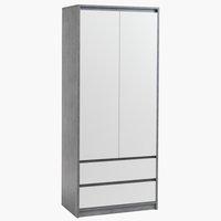 Шкаф BILLUND 80x192 см белый/бетон