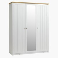 Wardrobe MARKSKEL 162x210 white/oak