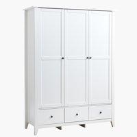 Garderobeskab NORDBY 150x200 hvid