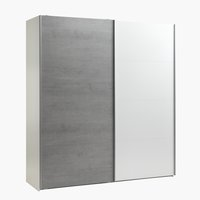 Garderob TARP 202x221 betong/vit