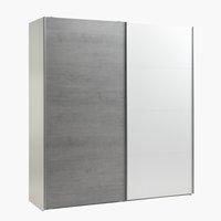 Vaatekaappi TARP 202x221 betoni/valk.