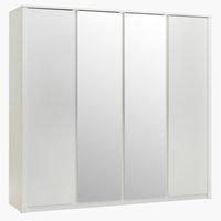 Wardrobe VEDDE 219x197 w/mirror white