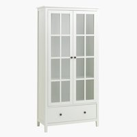Display cabinet NORDBY 2 door 1 drw wht
