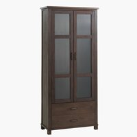 Display cabinet RAMSING 2door dark brown