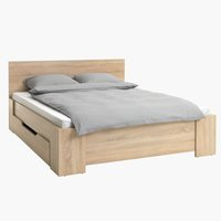 Bed frame HALD Double oak