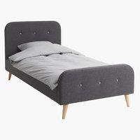 Ліжко KONGSBERG 90x200см сірий