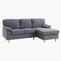 Sofa GEDVED chaise longue grey