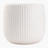 Cache-pot ODDMUND Ø14xH13cm blanc